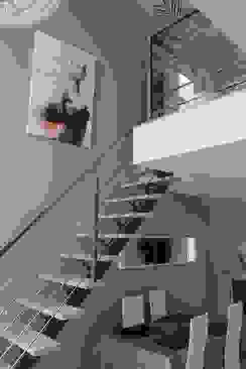 GARDE CORPS ET RAMBARDE Couloir, entrée, escaliers industriels par metal brut Industriel Fer / Acier