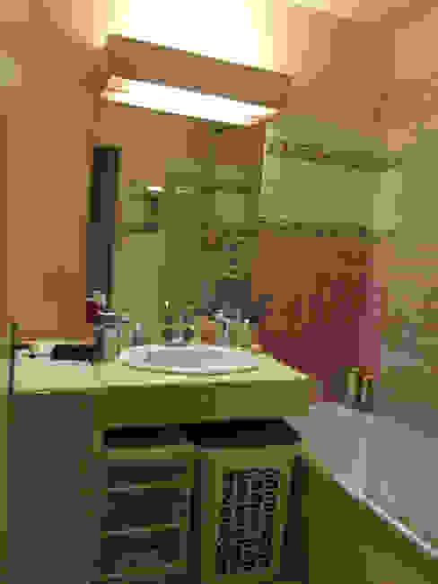 Salle bain avant- Appartement Courbevoie par Nuance d'intérieur