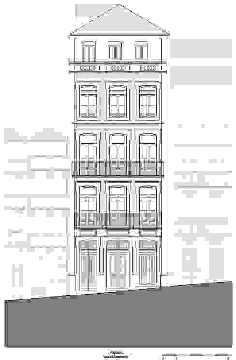 Alçado - Rua de Belomonte por Teresa Pinto Ribeiro   Arquitectura & Interiores Eclético
