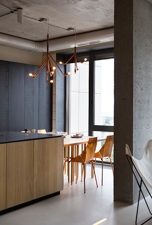 NPL. Penthouse Olga Akulova DESIGN Industrial style kitchen