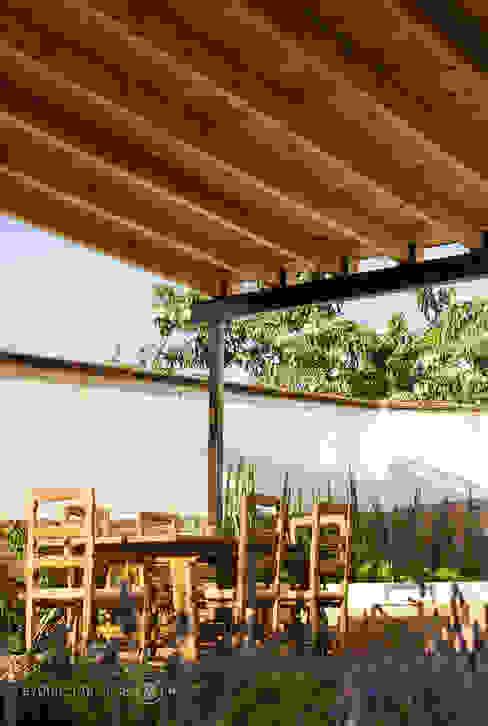 Techumbre de madera Región 4 Arquitectura Terrazas