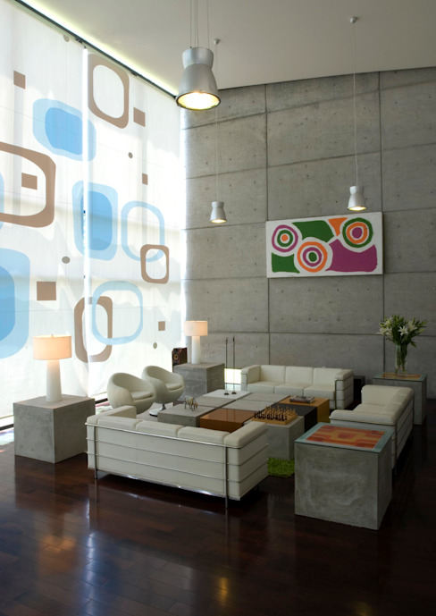 Sala Casa Cañadas:  de estilo  por VICTORIA PLASENCIA INTERIORISMO, Minimalista
