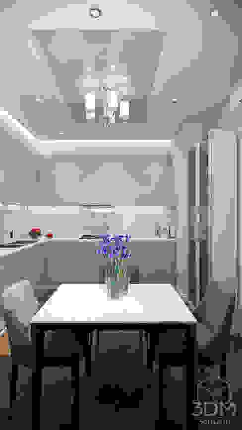 Проект 030: интерьер частного дома Кухня в стиле минимализм от студия визуализации и дизайна интерьера '3dm2' Минимализм