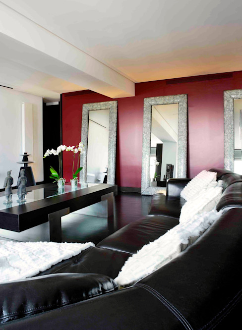 RIVIA Salones de estilo moderno de MILLENIUM ARCHITECTURE Moderno