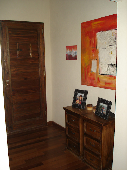 Hall de acceso Pasillos, vestíbulos y escaleras de estilo rústico de Fainzilber Arqts. Rústico