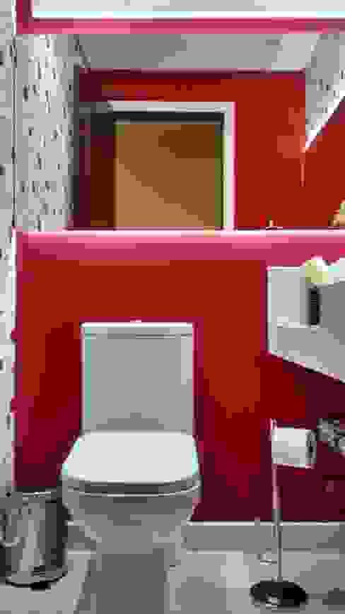 AA MENDES ARQUITETURA E DESIGN LTDA Ванная комната в эклектичном стиле Красный
