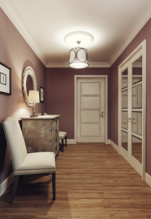 Pasillos, vestíbulos y escaleras de estilo ecléctico de MARION STUDIO Ecléctico