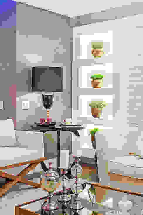 Patrícia Azoni Arquitetura + Arte & Design Ruang Keluarga Modern
