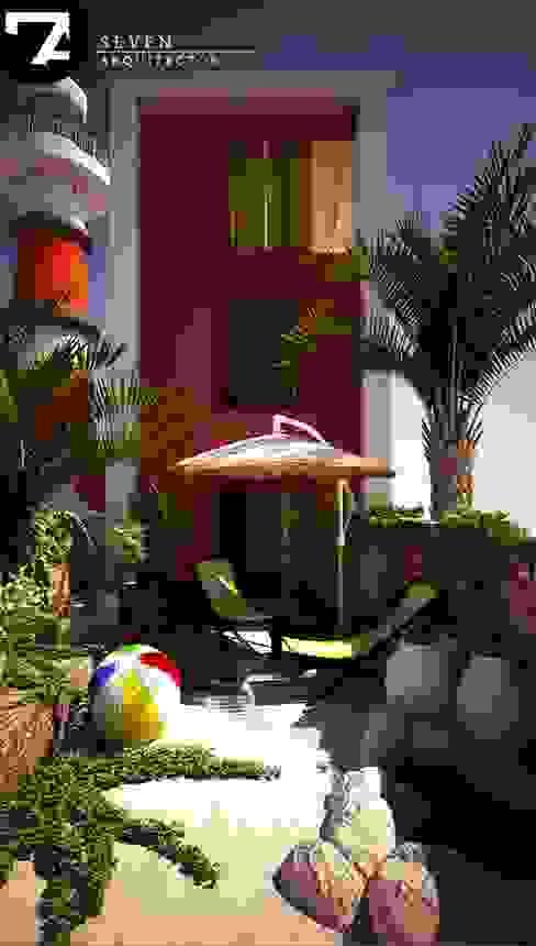 Jardines de estilo moderno de Seven Arquitectos Moderno