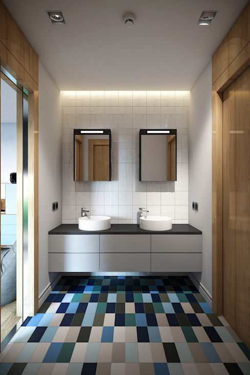 Modern Bathroom by BUUN MOTTO ARCHITECTS Modern
