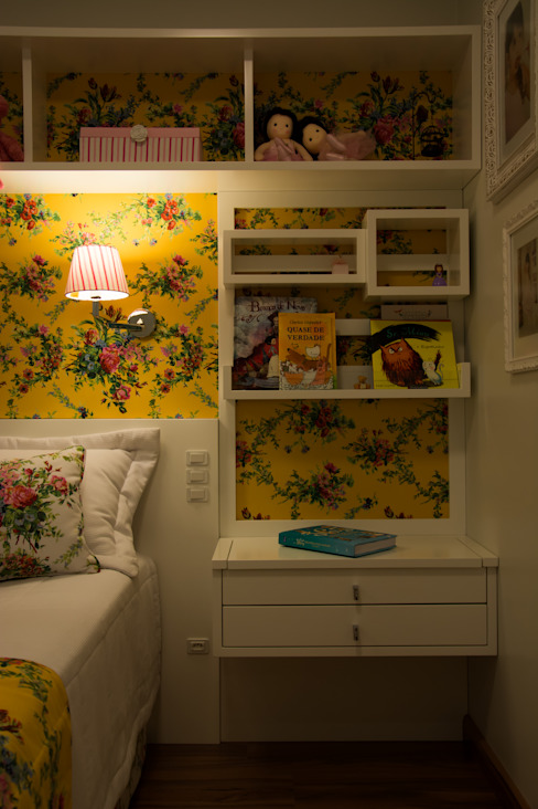 Dormitorios de estilo rural de ARQ Ana Lore Burliga Miranda Rural Textil Ámbar/Dorado