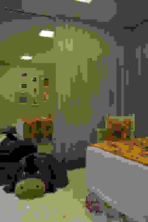 Wiejska sypialnia od ARQ Ana Lore Burliga Miranda Wiejski Tekstylia Złoty