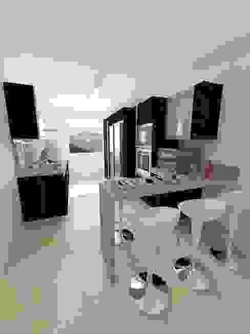 Cocinas Modelo Apartamentos EVC OPFA Diseños y Arquitectura Cocinas de estilo moderno
