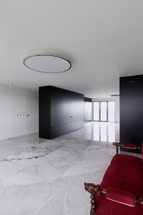 Apartamento Olivais Salas de estar minimalistas por nmdarq Minimalista