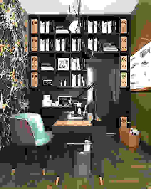 APARTMENT/2 Рабочий кабинет в эклектичном стиле от ONE STUDIO Эклектичный