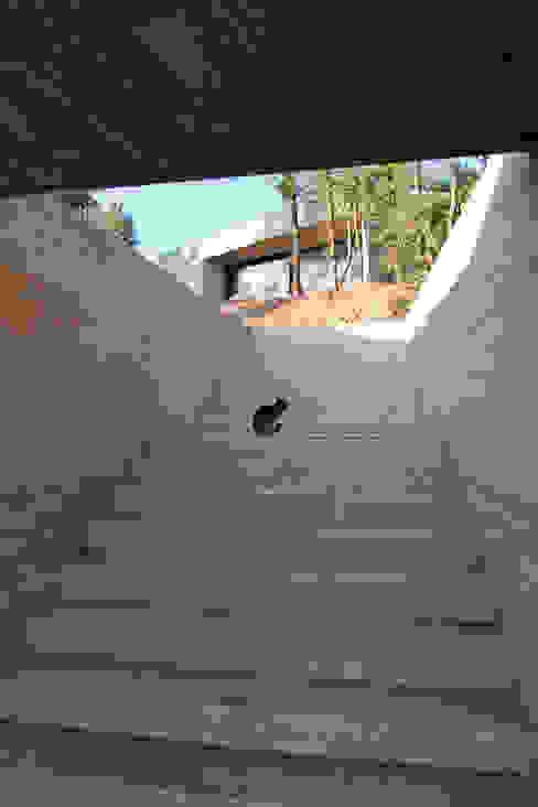 Vista del acceso des de la calle Casas de estilo minimalista de Comas-Pont Arquitectes slp Minimalista