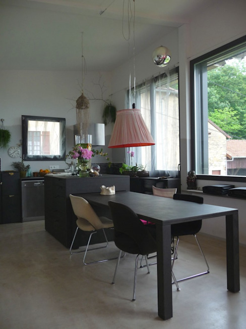 Modern Kitchen by Thierry Marco Architecture Modern Wood-Plastic Composite