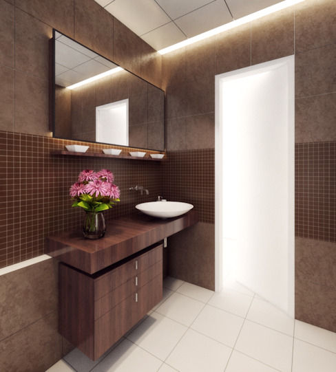 Modern bathroom by Space Interface Modern