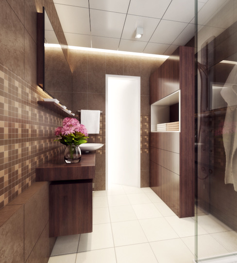Singh Residence:  Bathroom by Space Interface,