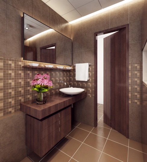 Singh Residence Modern bathroom by Space Interface Modern