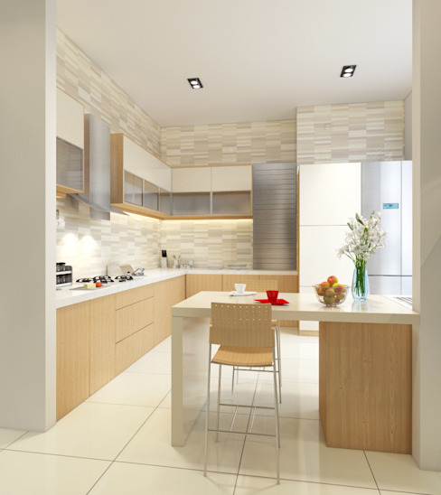 Singh Residence Modern kitchen by Space Interface Modern
