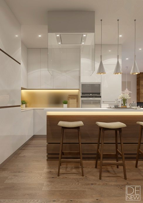Minimalist kitchen by DEnew Minimalist