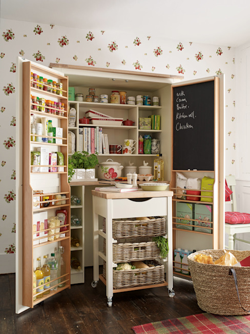 Alacena y carrito auxiliar Dorset de Laura Ashley Decoración Rústico Madera maciza Multicolor