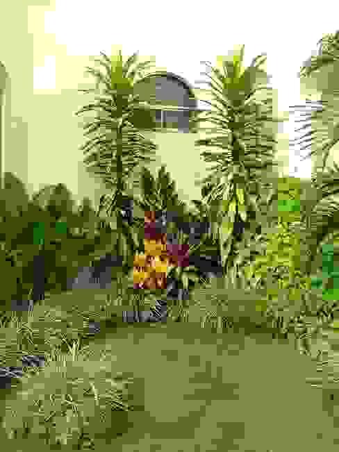 Jardins tropicais por EcoEntorno Paisajismo Urbano Tropical