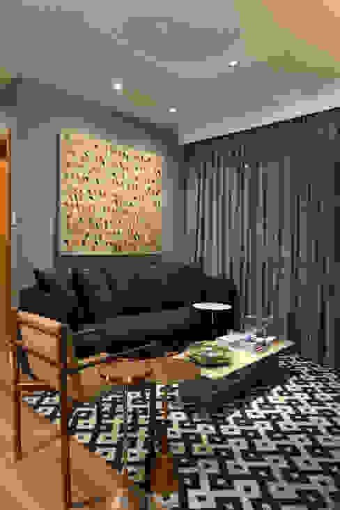 Apartamento pequeno - 43m² Salas de estar modernas por Moreno e Brazileiro | Arquitetos Moderno MDF
