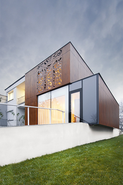 Casas estilo moderno: ideas, arquitectura e imágenes de PL+sp. z o.o. Moderno