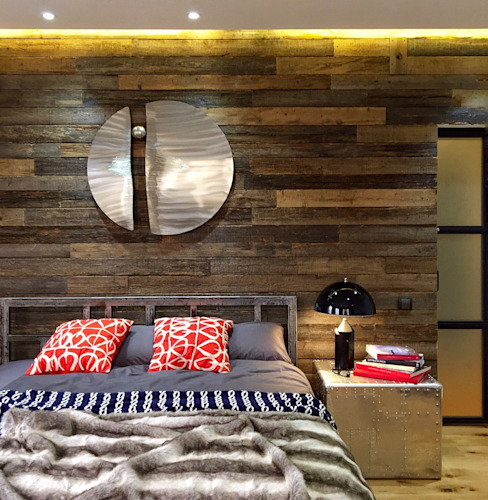 Industrial style bedroom by homify Industrial Wood Wood effect
