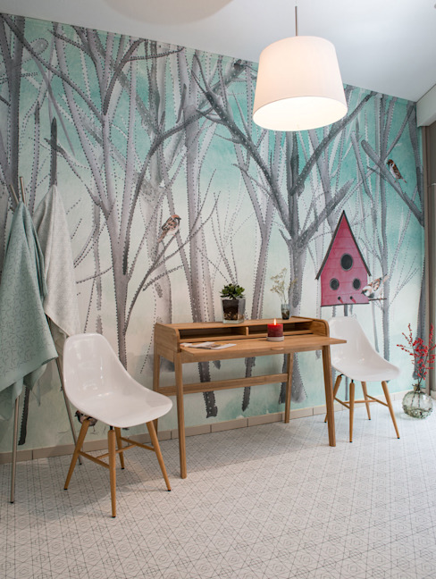 Modern walls & floors by Silvia Betancourt Designs Modern Paper