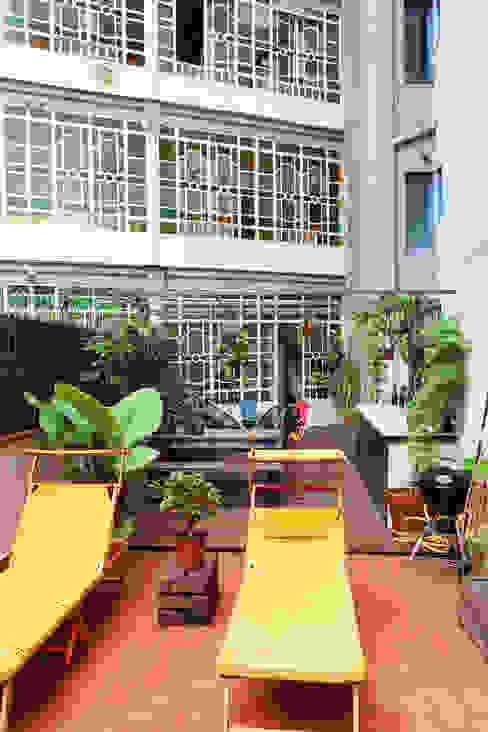 aspecto de la terraza Balcones y terrazas de estilo mediterráneo de homify Mediterráneo