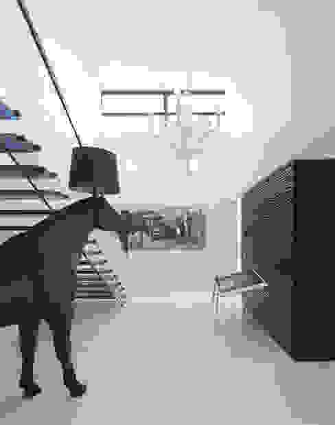 Villa in Limburg Moderne gangen, hallen & trappenhuizen van Engelman Architecten BV Modern