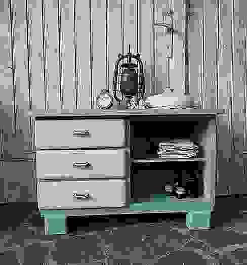 Vintage Kommode - pastell - shabby chic von Gerne wieder.GbR Landhaus Holz Holznachbildung