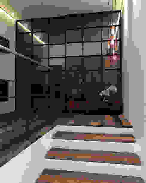 Departamento BM: Pasillos y recibidores de estilo  por Taller 03, Industrial Madera Acabado en madera