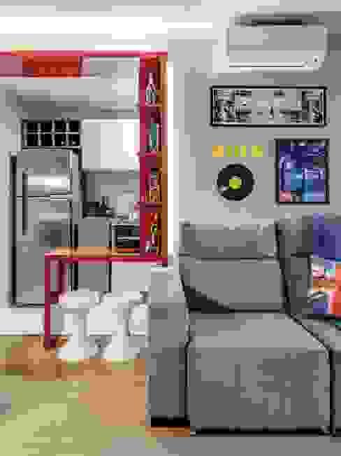 APTO OS - CAMAQUÃ / PORTO ALEGRE Salas de estar modernas por Ambientta Arquitetura Moderno