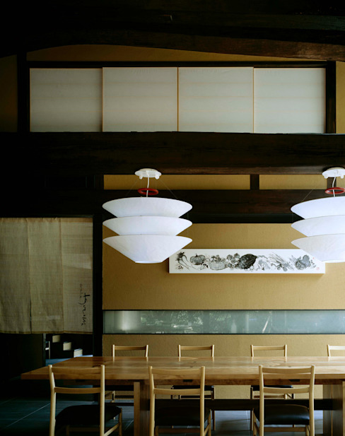 芦屋川むら玄 和風デザインの 多目的室 の 株式会社 小林恒建築研究所 和風