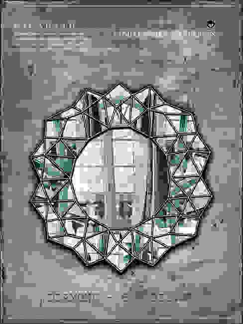 Многогранное зеркало - DIAMOND -6[silver] от KAGADATO Лофт Стекло