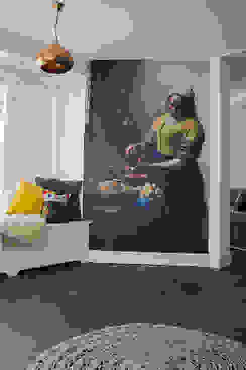 Woonbeton - Cementgebonden gietvloer Moderne woonkamers van Motion Gietvloeren Modern