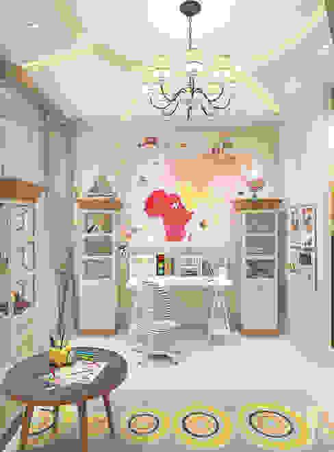 Дизайн проект детской комнаты в ЖК Тихвин от Батенькофф Детская комнатa в классическом стиле от homify Классический Бумага