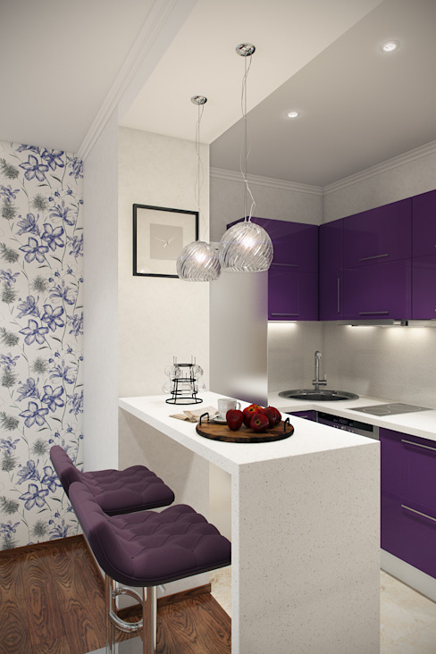 Eclectic style kitchen by Студия интерьера 'SENSE' Eclectic