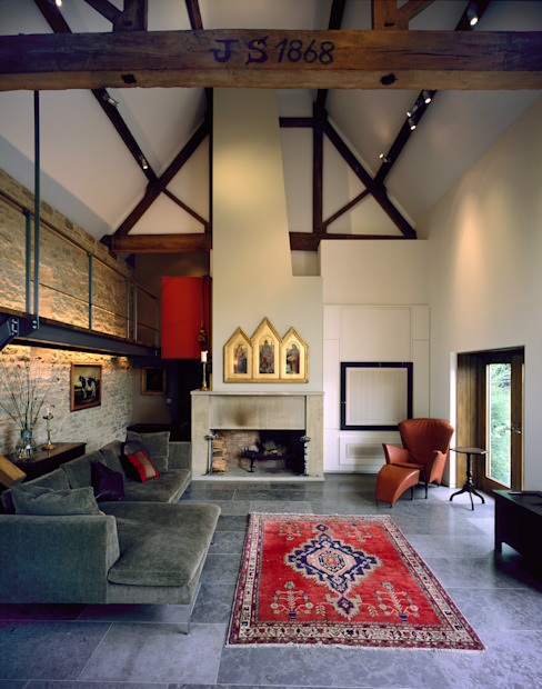 KSR Architects | Luxury barn conversion | Living room Rustic style living room by KSR Architects Rustic Wood Wood effect