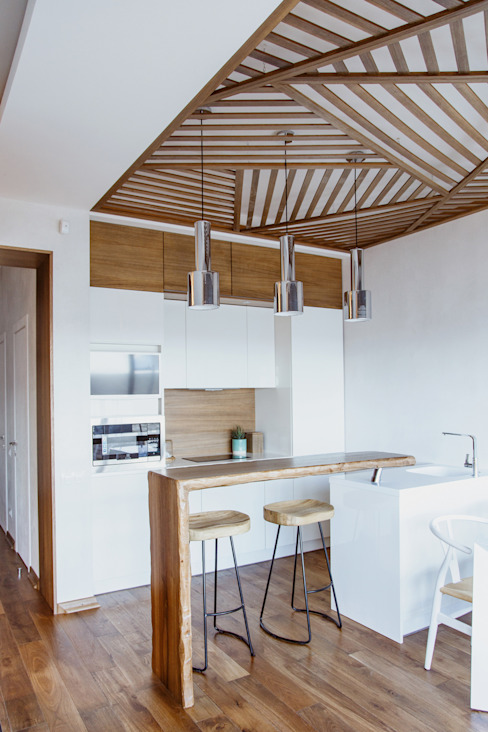 Eclectic style kitchen by Yucubedesign Eclectic Wood Wood effect