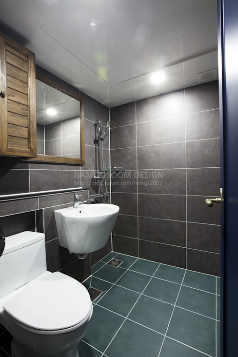 욕실 모던스타일 욕실 by 나무숨인테리어 모던