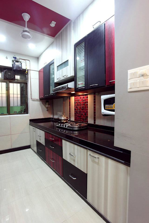 Bharat Bhanushali Modern kitchen by PSQUAREDESIGNS Modern
