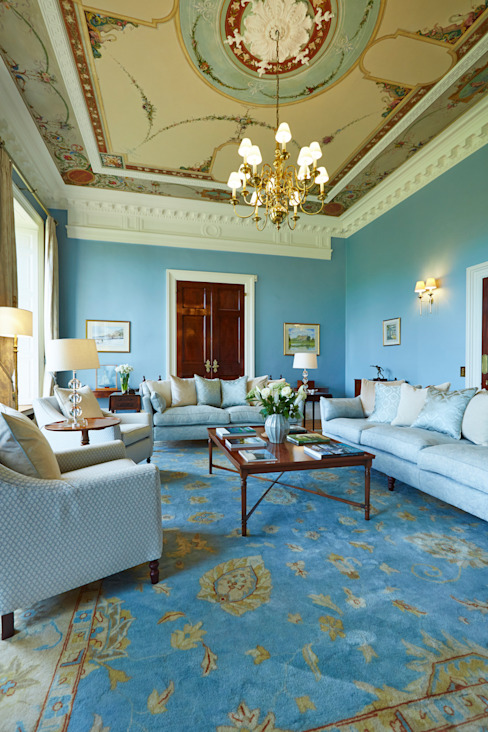 Georgian Drawing Room Etons of Bath Classic style living room Blue