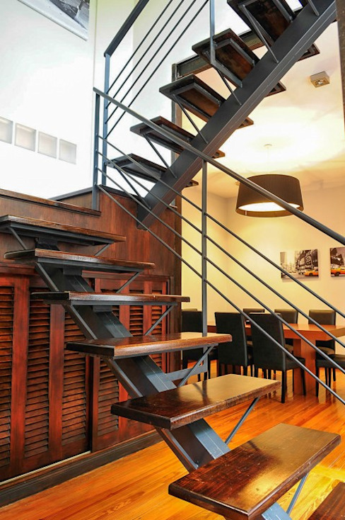 Pasillos y recibidores de estilo  por Radrizzani Rioja Arquitectos, Minimalista Madera Acabado en madera