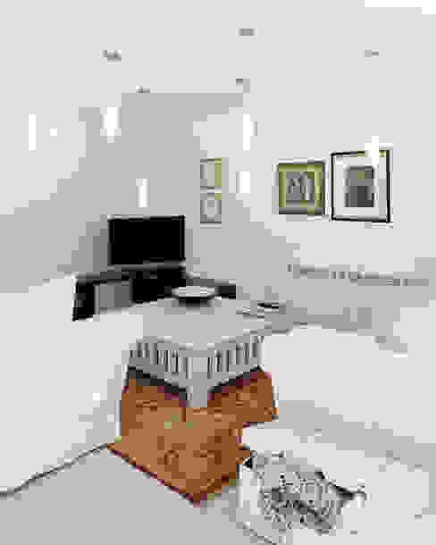 Reforma de piso en Santiago de Compostela Salones de estilo minimalista de Interior Zen. Obras e Proxectos Minimalista
