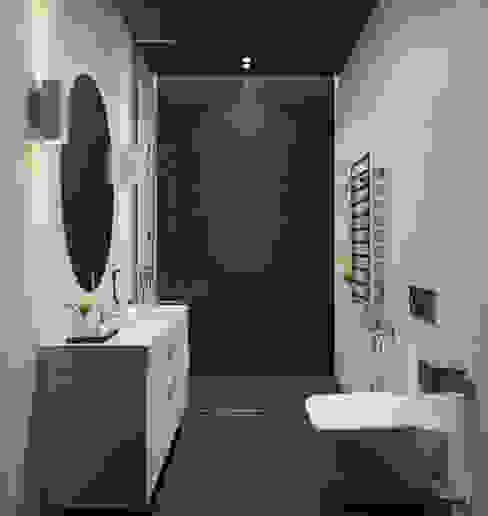 Визуализация ванной комнаты.: Ванные комнаты в . Автор – Aleksandra  Kostyuchkova, Минимализм